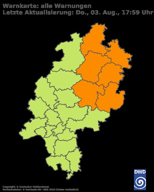 Aktuelle Wetterwarnungen für Main-Taunus-Kreis